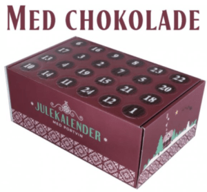 Portvinskalender med chokolade 2021